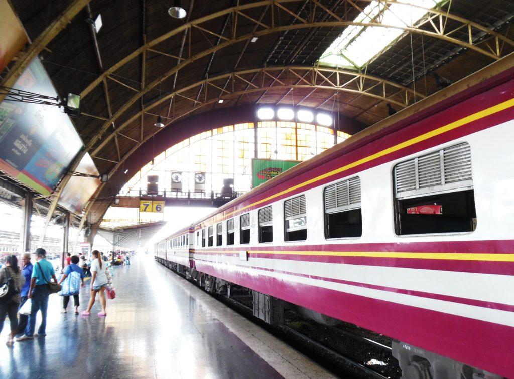 The train from Bangkok to Ayutthaya, Thailand