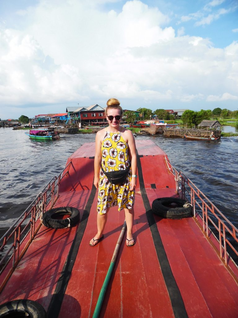 A boat trip through the floating villages of Kompong Phluk, Cambodia