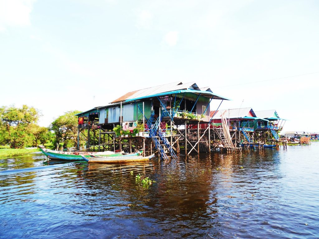 The floating villages of Kompong Phluk in Cambodia - something which should certainly be on your bucket list for Southeast Asia!