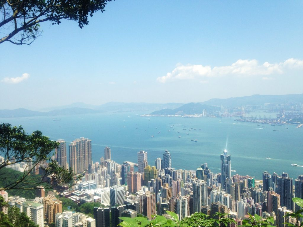 The view over Hong Kong from Lugard Road