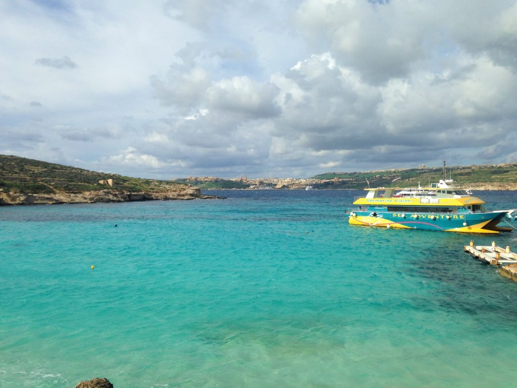 Blue Lagoon at Comino Island just off of Malta