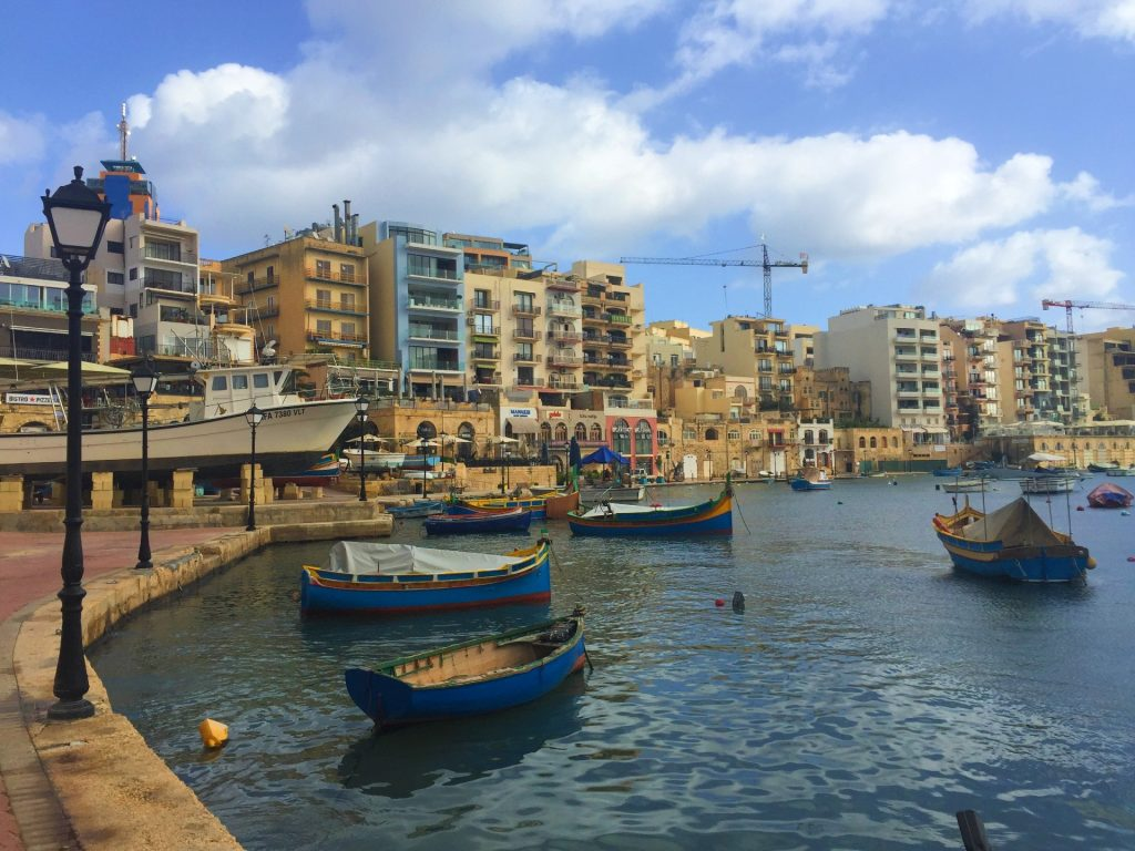 Spinola Bay in Malta - How to travel cheap in Europe!