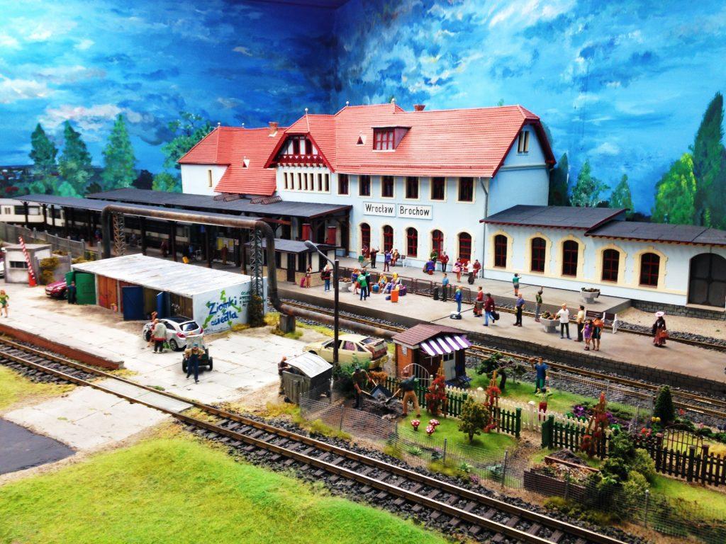 Kolejkowo model railway in Wroclaw, Poland