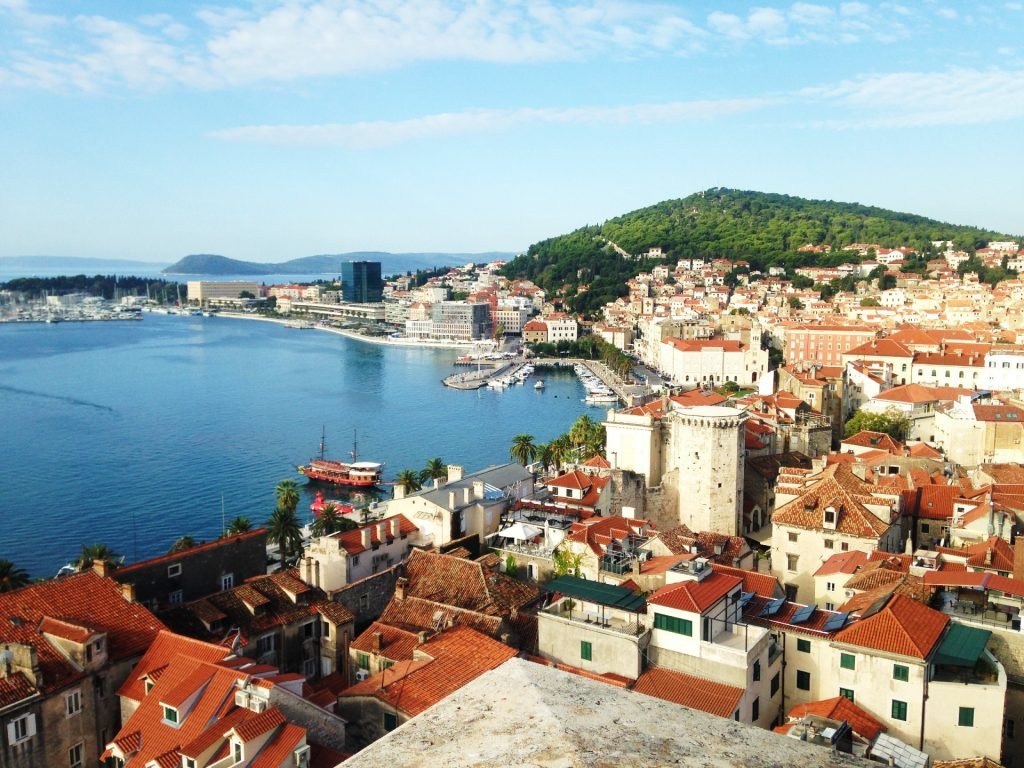 View of Split, Croatia - How to get from Split Airport to Split City Centre by Airport Shuttle Bus?