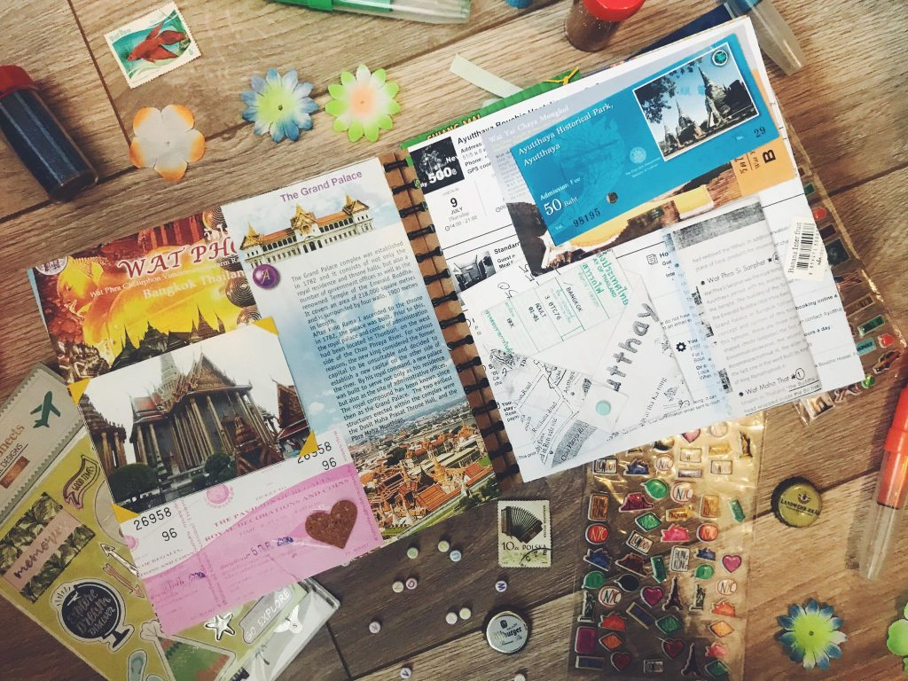 Travel scrapbooks - Travel related things to do at home during lockdown!
