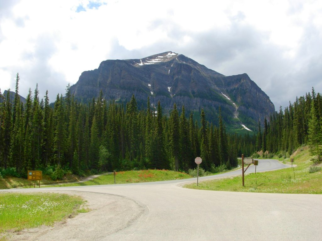 The road to Lake Louise, Canada