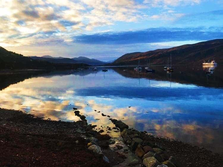 The seaside town of Ullapool - The perfect stop on a 7 day motorhome itinerary for Scotland!