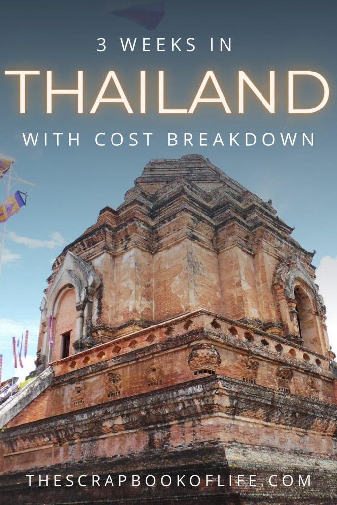 3 weeks in Thailand