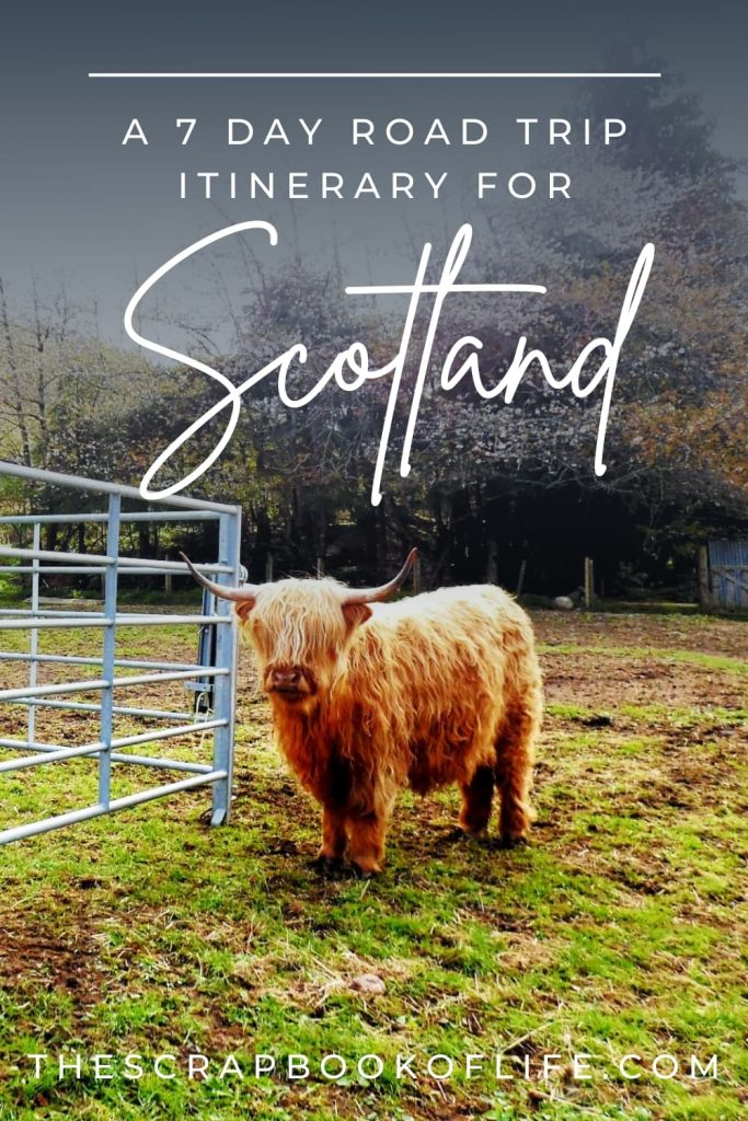 Pinterest image for a 7 day motorhome itinerary for Scotland