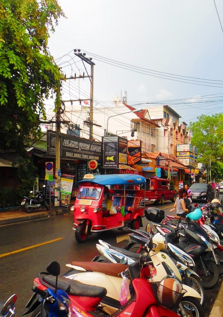 The traffic in Chiang Mai