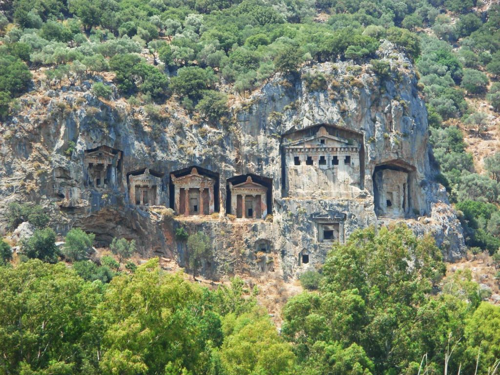 Lycian Rocks Tombs in Dalyan, Turkey - One of the unique places to visit in Europe!