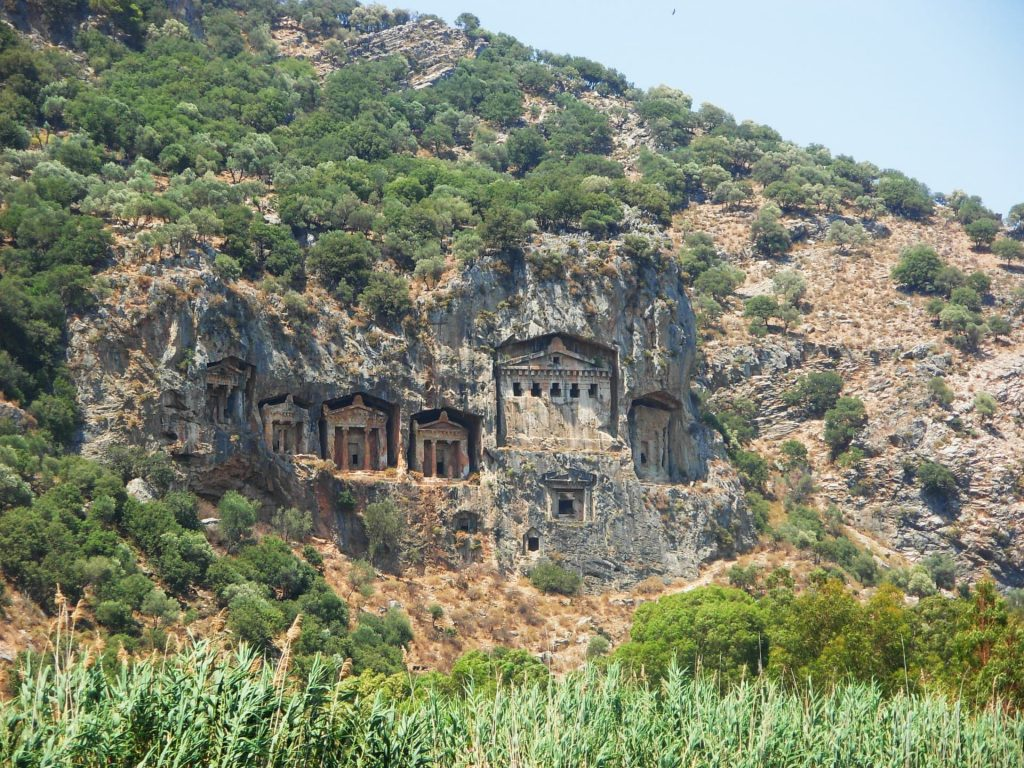 Lycian Tombs in Dalyan, Turkey - One of the unique places to visit in Europe!