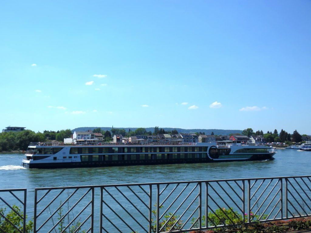 River cruise at Linz am Rhein, Germany