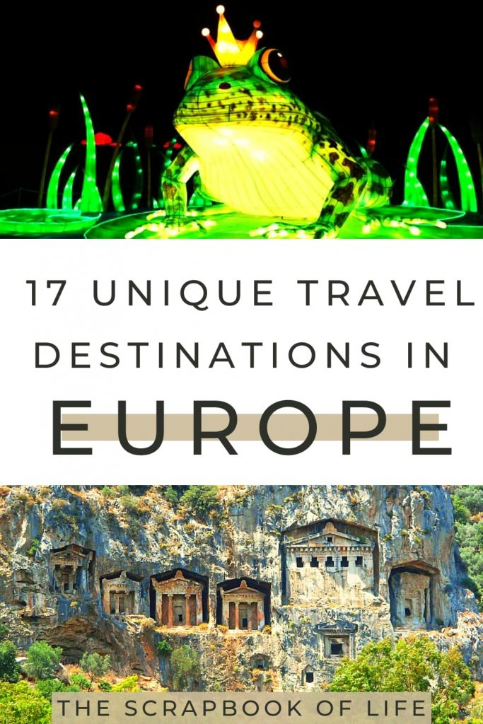 Unique places to travel in Europe