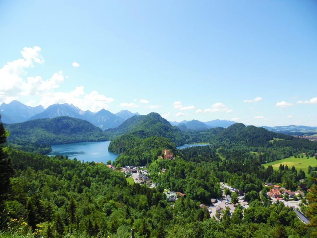 The view over Alpsee from Neuschwanstein Castle, Germany