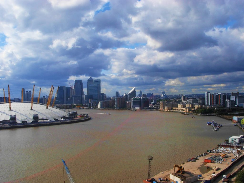 The view over London and the O2 Arena from the Emirates Air Line - 3 days in London