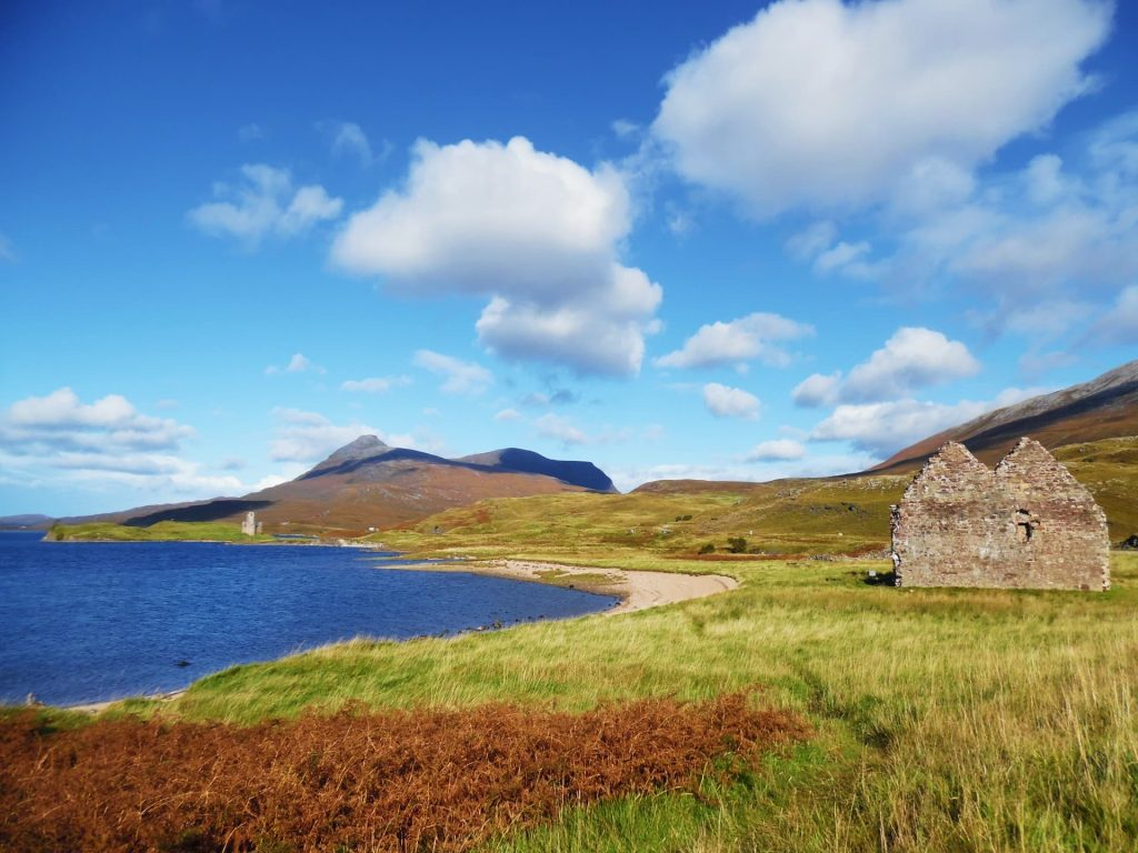 The ruins of Calda House and Ardvreck Castle, Scotland