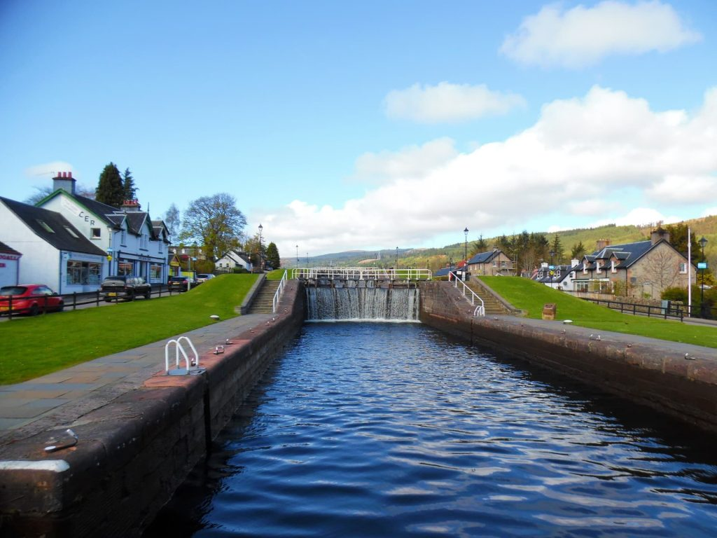 Caledonian Canal at Fort Augustus - One of the prettiest places in Scotland!