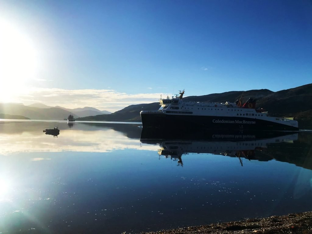 Caledonian MacBrayne Ferry on Loch Broom, Ullapool which is one of the prettiest places in Scotland!