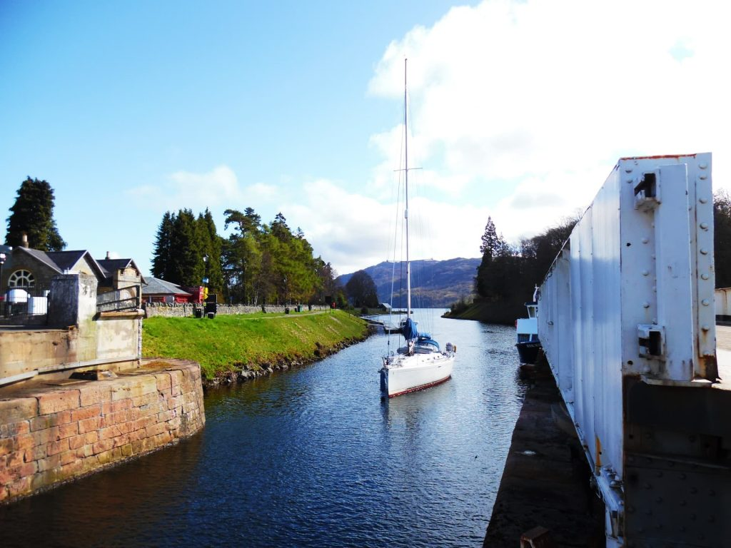 Caledonian Canal at Fort Augustus, Scotland