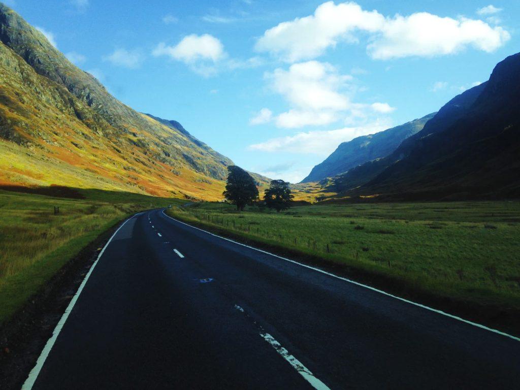 Driving through Glen Coe, Scotland