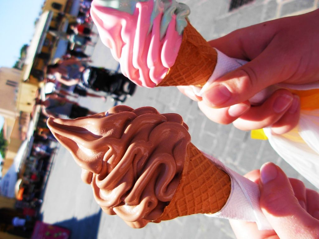 Ice cream in Rhodes, Greece