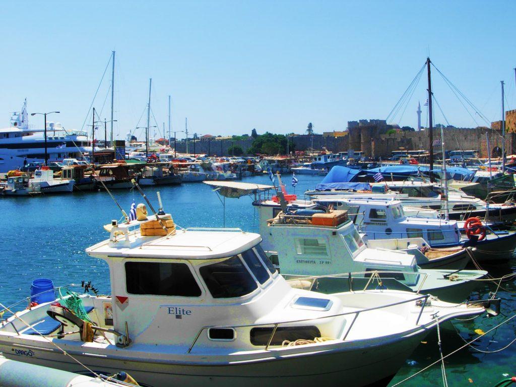 Kolona Harbour, Rhodes, Greece