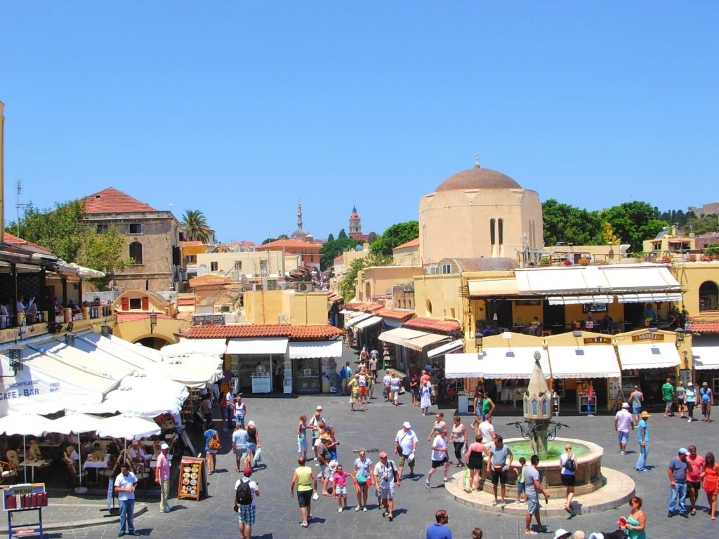 Hippocrates Square and Ipokratous Fountain in Rhodes Old Town - Things to do in Rhodes town, Greece