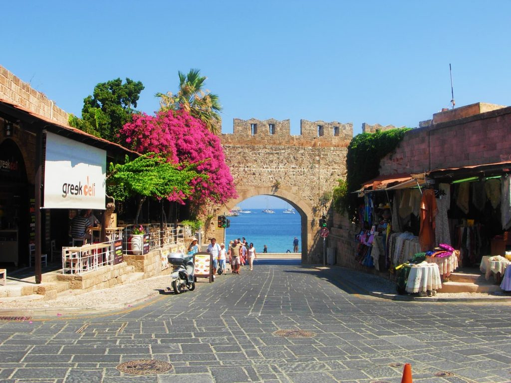 Gate of the Virgin in Rhodes Old Town, Greece