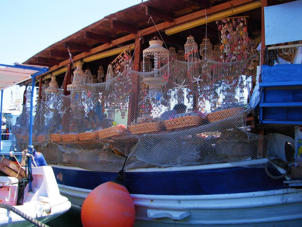 The Shell Boat in Kolona Harbour - Things to do in Rhodes town, Greece