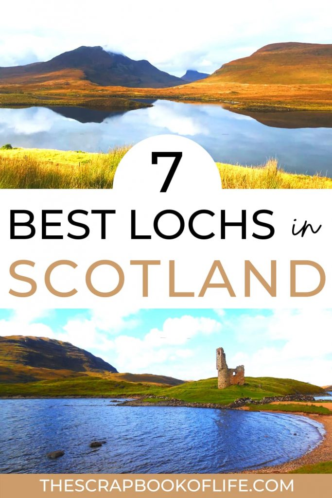7 most beautiful lochs in Scotland Pinterest pin
