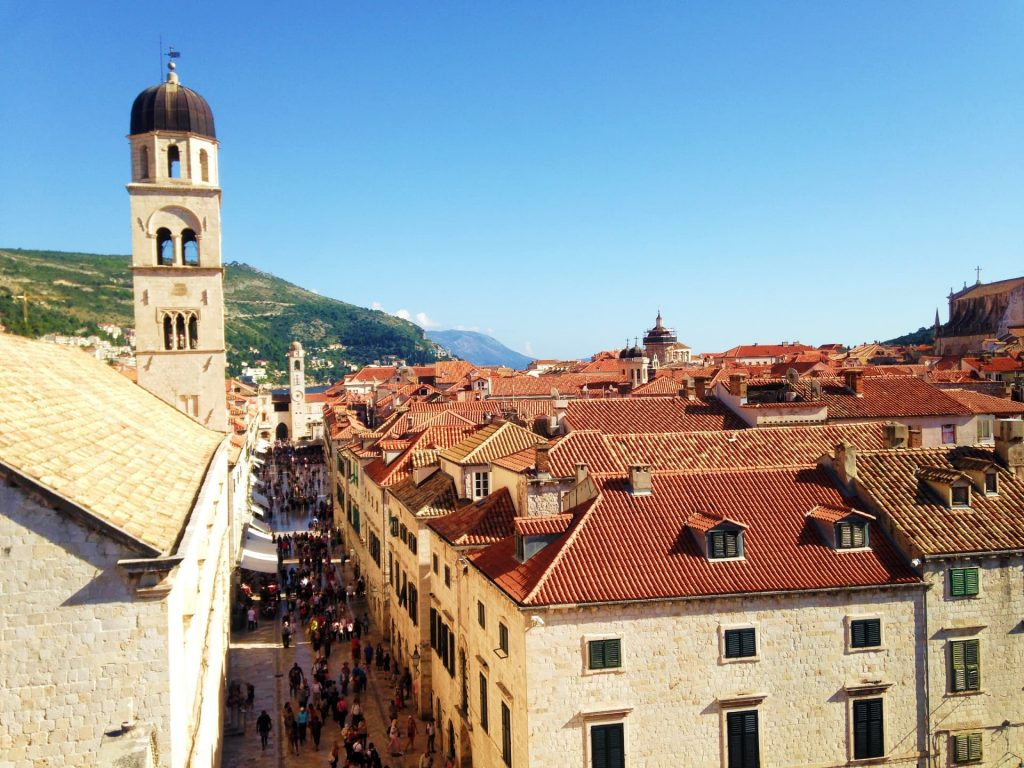 View over Dubrovnik from the Old City Walls, Croatia