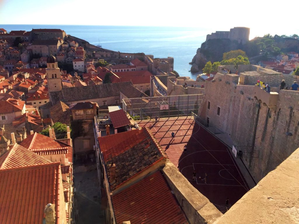 Football pitch in Dubrovnik Old Town, Croatia