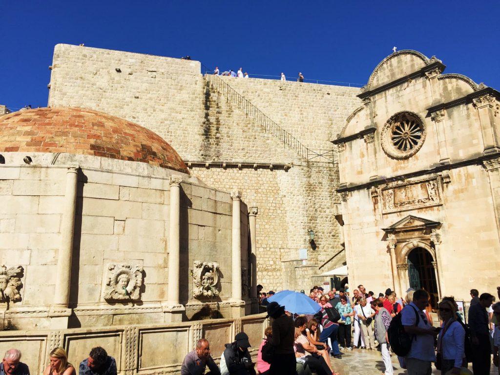 Onophrio's Fountain and St. Saviour Church, Dubrovnik, Croatia