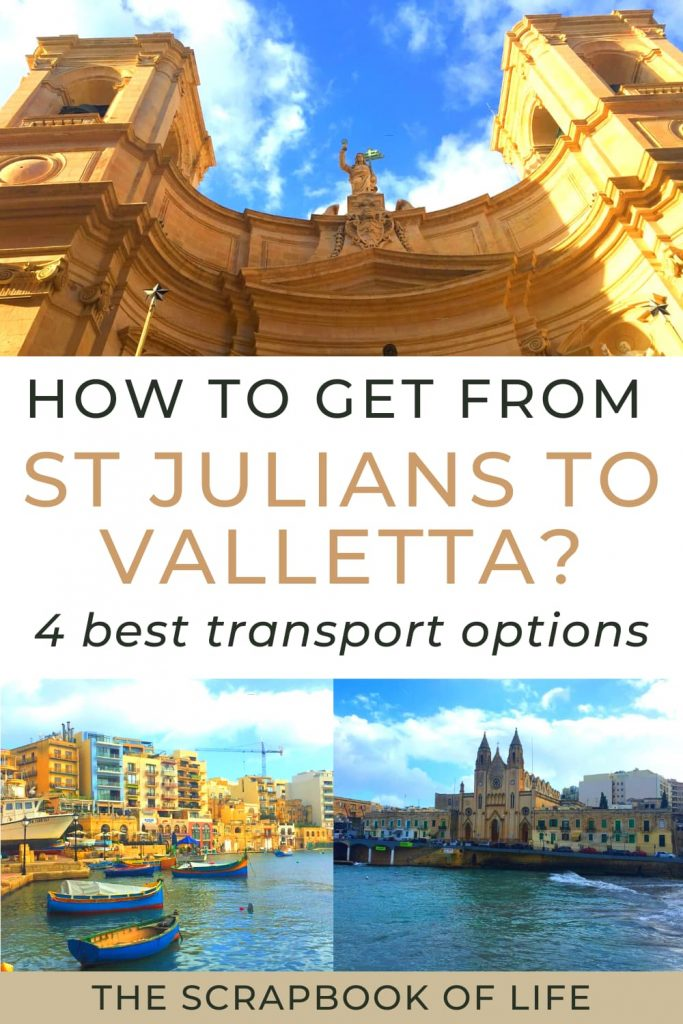 How to get from St Julians to Valletta, Malta?