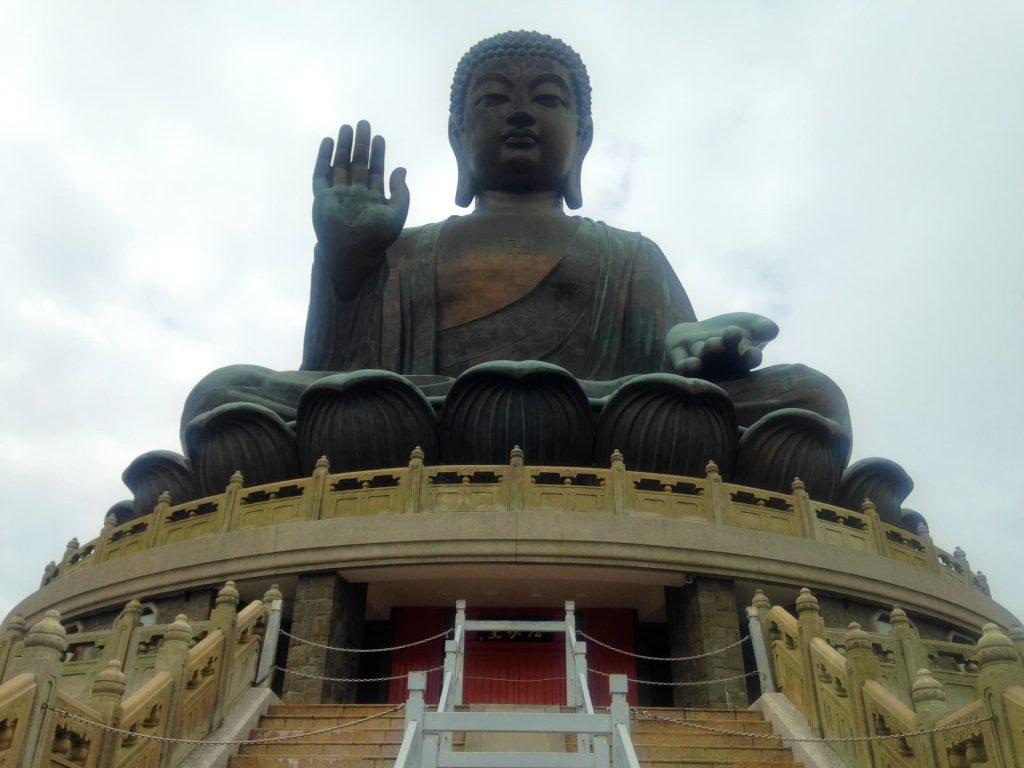 Big Buddha on Lantau Island in Hong Kong