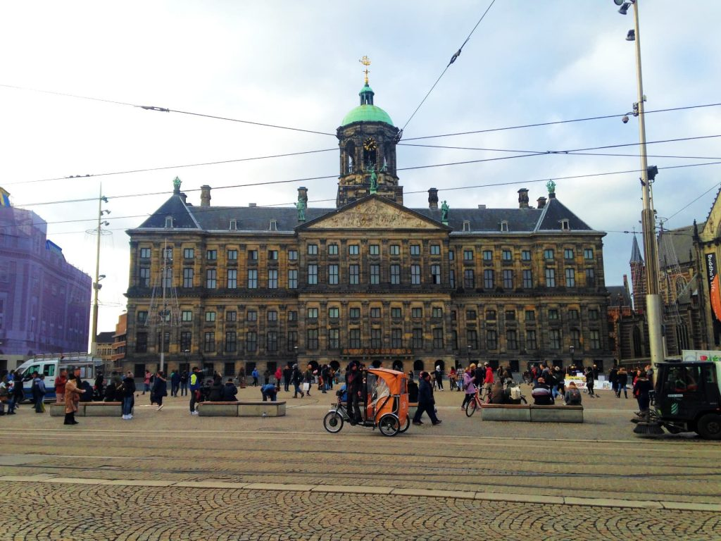 Royal Palace on Dam Square in Amsterdam