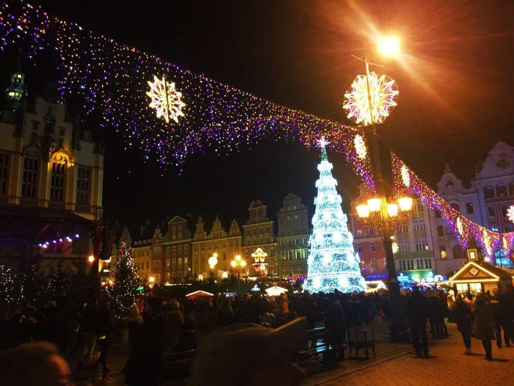 Wroclaw Christmas Tree and Lights, Poland