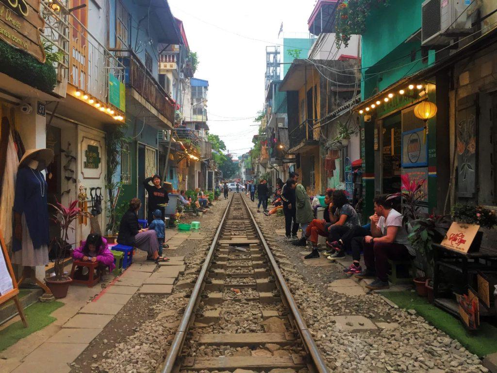 Train Street in Hanoi, Vietnam